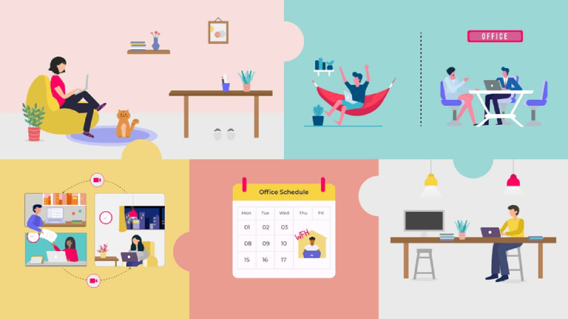 Daily work report for remote workers